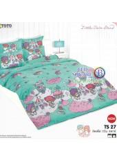 ผ้าปูที่นอนผ้านวมลายลิตเติ้ลทวินสตาร์ Little Twin Stars TS27 - TOTO