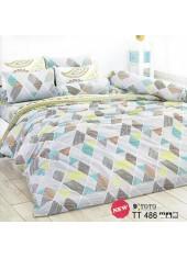 ผ้าปูที่นอนผ้านวมลายกราฟฟิคลายเส้น โทนสีเทา ชุดเครื่องนอน TOTO