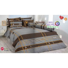 ผ้าปูที่นอนผ้านวมลายโซ่ โทนสีน้ำตาล TT635 ชุดเครื่องนอน TOTO