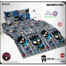 ผ้าปูที่นอน ผ้านวม แบดแบตซ์ มารุ ชุดเครื่องนอน TOTO Bad Badtz-Maru XO05 ชุดเครื่องนอน TOTO