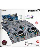 ผ้าปูที่นอน ผ้านวม แบดแบตซ์ มารุ ชุดเครื่องนอน TOTO Bad Badtz-Maru XO06 ชุดเครื่องนอน TOTO