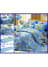 ผ้าปูที่นอนทิวลิป ผ้านวม ลายกล้วยหอมจอมซน Bananas in Pyjamas BN001 ชุดเครื่องนอน Tulip