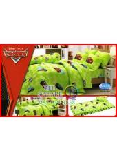 ผ้าปูที่นอนทิวลิป ผ้านวม ลายแม็คควีน Cars D017 ชุดเครื่องนอน Tulip
