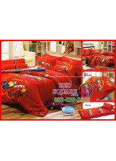 ผ้าปูที่นอนทิวลิป ผ้านวม ลายแม็คควีน Cars D022 ชุดเครื่องนอน Tulip
