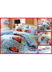 ผ้าปูที่นอนทิวลิป ผ้านวม ลายแม็คควีน Cars D024 ชุดเครื่องนอน Tulip