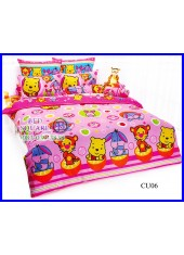 ผ้าปูที่นอนโตโต้ ผ้านวม ลายคิวตี้หมีพูห์ Disney Cuties Pooh Bear CU06