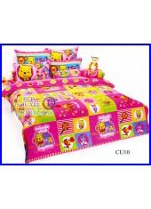 ผ้าปูที่นอนโตโต้ ผ้านวม ลายคิวตี้หมีพูห์ Disney Cuties Pooh Bear CU10