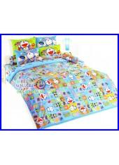 ผ้าปูที่นอนผ้านวมลายโดราเอมอน Doraemon DM60 เครื่องนอนครบชุด TOTO
