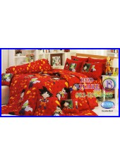 ผ้าปูที่นอนทิวลิป ผ้านวม ลายดราก้อนบอล Dragon Ball Z BZ001 ชุดเครื่องนอน Tulip