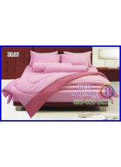 Fair Lady ผ้าปูที่นอนผ้านวมสีพื้น ชมพูอ่อน สองสี ทูโทน FL06