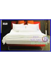 Fair Lady ผ้าปูที่นอนผ้านวมสีพื้น สีขาวล้วน FL10