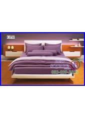 Fair Lady ผ้าปูที่นอนผ้านวมสีพื้น สีม่วงเข้ม สองสี ทูโทน FL11