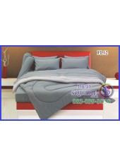 Fair Lady ผ้าปูที่นอนผ้านวมสีพื้น สีเทาเข้ม สองสี ทูโทน FL12