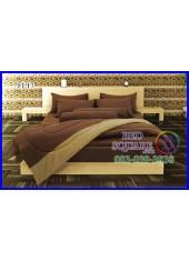 Fair Lady ผ้าปูที่นอนผ้านวมสีพื้น สีน้ำตาลเข้ม ช็อคโกแลต ทูโทน FL17