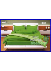 Fair Lady ผ้าปูที่นอนผ้านวมสีพื้น สีเขียวสด ขอบสีอ่อน สองสีทูโทน FL31