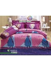 ชุดเครื่องนอนลายเอลซ่า โฟรเซ่น Frozen Elsa สีชมพูม่วง Jessica ผ้าปูที่นอน ผ้านวมเจสสิก้า FZ002