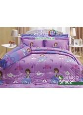 ชุดเครื่องนอนลายโซเฟีย Sofia The First สีม่วง Jessica ผ้าปูที่นอน ผ้านวมเจสสิก้า SF002