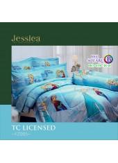 ชุดเครื่องนอนลายเอลซ่า โฟรเซ่น Frozen Elsa สีฟ้า Jessica ผ้าปูที่นอน ผ้านวมเจสสิก้า FZ005