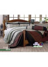 ชุดเครื่องนอนลายกราฟฟิค ขาว น้ำตาล ดำ Jessica ผ้าปูที่นอน ผ้านวมเจสสิก้า J215
