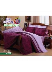 ชุดเครื่องนอนลายกราฟฟิค พื้นม่วง Jessica ผ้าปูที่นอน ผ้านวมเจสสิก้า J222