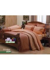 ชุดเครื่องนอนลายกราฟฟิค น้ำตาลอ่อน Jessica ผ้าปูที่นอน ผ้านวมเจสสิก้า J224