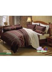 ชุดเครื่องนอนลายกราฟฟิค น้ำตาล ครีม Jessica ผ้าปูที่นอน ผ้านวมเจสสิก้า J229