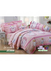 ผ้าปูที่นอนผ้านวม กันไรฝุ่น กันภูมิแพ้ ลายซินามอโรล  Cinnamoroll JC006 พื้นสีชมพู Jessica