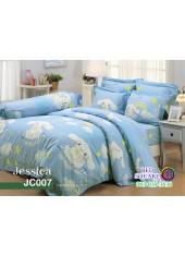 ผ้าปูที่นอนผ้านวม กันไรฝุ่น กันภูมิแพ้ ลายซินามอโรล Cinnamoroll JC007 พื้นสีฟ้า Jessica