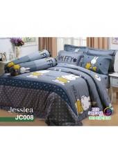 ผ้าปูที่นอนผ้านวม กันไรฝุ่น กันภูมิแพ้ ลายมิฟฟี่ Miffy JC008 พื้นสีเทา Jessica