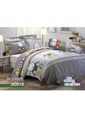 ผ้าปูที่นอนผ้านวม กันไรฝุ่น กันภูมิแพ้ ลายมิฟฟี่ Miffy JC010 พื้นสีเทา Jessica