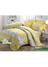 ผ้าปูที่นอนผ้านวม กันไรฝุ่น กันภูมิแพ้ ลายม็อบปุ  Marumofubiyori JC011 พื้นสีเหลือง Jessica
