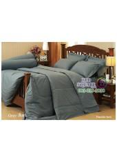 ผ้าปูที่นอนผ้านวมสีพื้น Jessica สีเทา กันแบคทีเรีย ไรฝุ่น สำหรับคนเป็นภูมิแพ้ J-GRAY