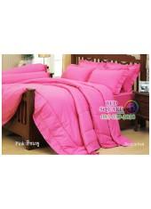 ผ้าปูที่นอนผ้านวมสีพื้น Jessica สีชมพู กันแบคทีเรีย ไรฝุ่น สำหรับคนเป็นภูมิแพ้ J-PINK