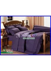 ผ้าปูที่นอนผ้านวมสีพื้น Jessica สีม่วง กันแบคทีเรีย ไรฝุ่น สำหรับคนเป็นภูมิแพ้ J-PURPLE