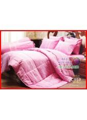 ผ้าปูที่นอนผ้านวม Cotton 100% ลายกราฟฟิก สีชมพู สวยหวาน กันไรฝุ่น กลิ่นอับ ภูมิแพ้ Jessica