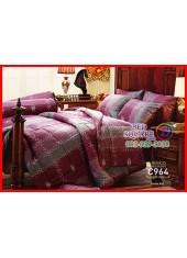 ผ้าปูที่นอนผ้านวม Cotton 100% ลายตารางสีชมพูอมม่วง กันไรฝุ่น กลิ่นอับ ภูมิแพ้ Jessica