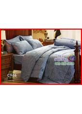ผ้าปูที่นอนผ้านวม Cotton 100% ลายกราฟฟิก สีเทา กันไรฝุ่น กลิ่นอับ ภูมิแพ้ Jessica