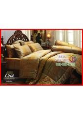 ผ้าปูที่นอนผ้านวม Cotton 100% ลายตาราง โทนสีน้ำตาล กันไรฝุ่น กลิ่นอับ ภูมิแพ้ Jessica