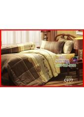 ผ้าปูที่นอนผ้านวม Cotton 100% ลายกราฟฟิกดอกไม้ สีนำ้ตาล เหลือง กันไรฝุ่น กลิ่นอับ ภูมิแพ้ Jessica