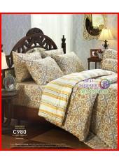 ผ้าปูที่นอนผ้านวม Cotton 100% ลายกราฟฟิก ลวดลายอาหรับ โทนน้ำตาล กันไรฝุ่น กลิ่นอับ ภูมิแพ้ Jessica