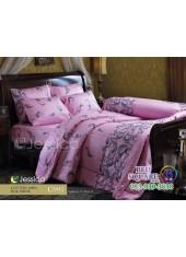 ชุดเครื่องนอนลายกราฟฟิคสีเทาพื้นชมพู Jessica ผ้าปูที่นอน ผ้านวม Cotton 100% เจสสิก้า C993
