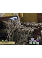 ชุดเครื่องนอนลายกราฟฟิคพื้นน้ำตาล Jessica ผ้าปูที่นอน ผ้านวม Cotton 100% เจสสิก้า C994
