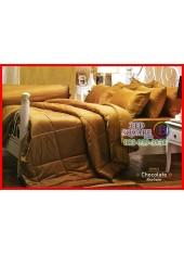 ผ้าปูที่นอนผ้านวม Cotton 100% สีพื้นน้ำตาลทอง Chocolate กันไรฝุ่น สำหรับคนเป็นภูมิแพ้ Jessica