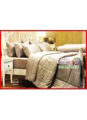 ผ้าปูที่นอนผ้านวม Cotton 100% สีพื้นเงิน Silver กันไรฝุ่น สำหรับคนเป็นภูมิแพ้ Jessica