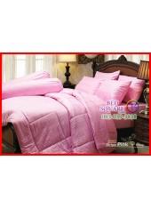 ผ้าปูที่นอนผ้านวม Cotton 100% สีพื้นริ้วชมพู กันไรฝุ่น สำหรับคนเป็นภูมิแพ้ Jessica