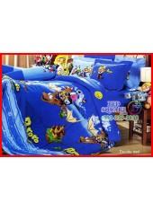 ผ้าปูที่นอนผ้านวม กันไรฝุ่น กันภูมิแพ้ ลายโพโรโระ Pororo PO009 Jessica