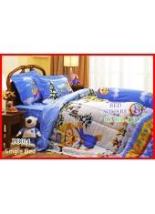 ผ้าปูที่นอนผ้านวม กันไรฝุ่น กันภูมิแพ้ ลายโพโรโระ Pororo PO014 Jessica