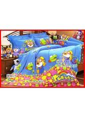 ผ้าปูที่นอนผ้านวม กันไรฝุ่น กันภูมิแพ้ ลายโพโรโระ Pororo PO015 Jessica