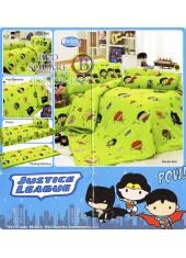 ผ้าปูที่นอนทิวลิป ผ้านวม ลายจัสติสลีก Justice League GB001 ชุดเครื่องนอน Tulip