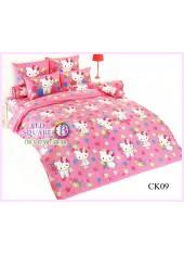 ผ้าปูที่นอนผ้านวมลายชาร์มมี่ คิตตี้ สีชมพู Charmmy Kitty CK09 - TOTO